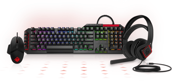 omen mouse and keyboard and headset accessories