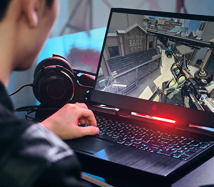 omen laptop  game play