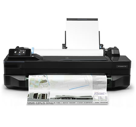 HP DesignJet T120 printer plotter with CAD