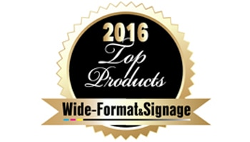 Wide-Format & Signage Top Products award logo
