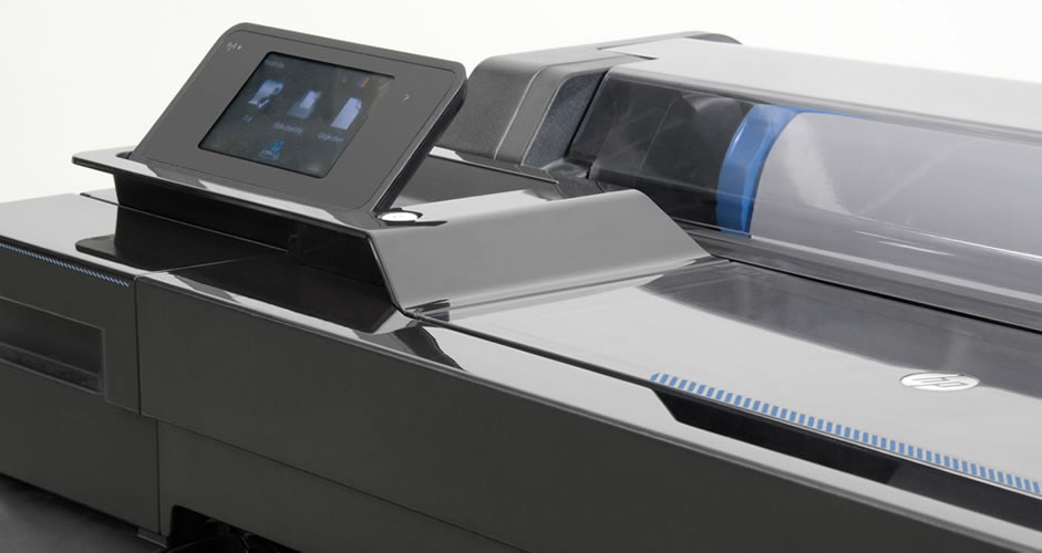 Close-up view of the HP DesignJet T520 Printer
