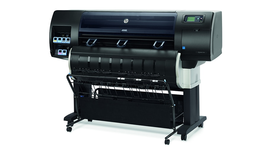 Front view of the HP DesignJet T7200 Production Printer