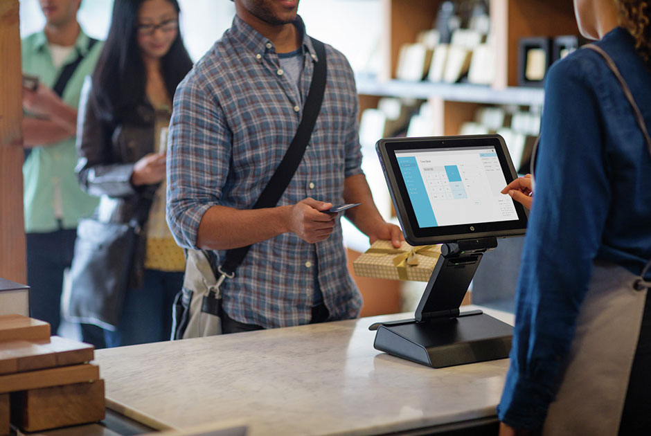 HP Retail Point of Sale monitor and reciept printer