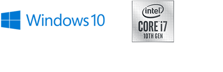 Windows 10 and intel logo