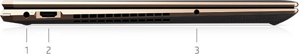 "Left Side image of  15"" laptop ports"
