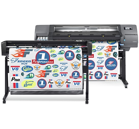 HP Latex 315 Print and Cut Solution - Grow with this 1.37 m (54 in) business-ready print and cut solution.