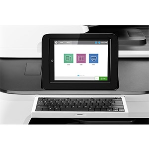 HP A3 PageWide Managed screen and keyboard