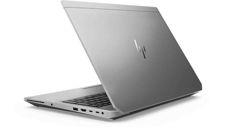 Zbook 15 laptop with video player icon