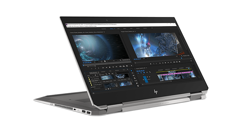 HP ZBook Studio x360  side view
