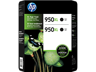 HP 950XL 2-pack High Yield Black Original Ink Cartridges