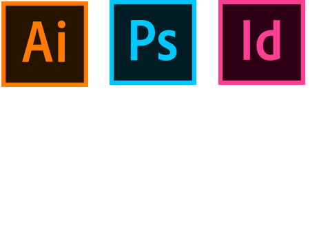 Adobe Illustrator, Photoshop, and InDesign
