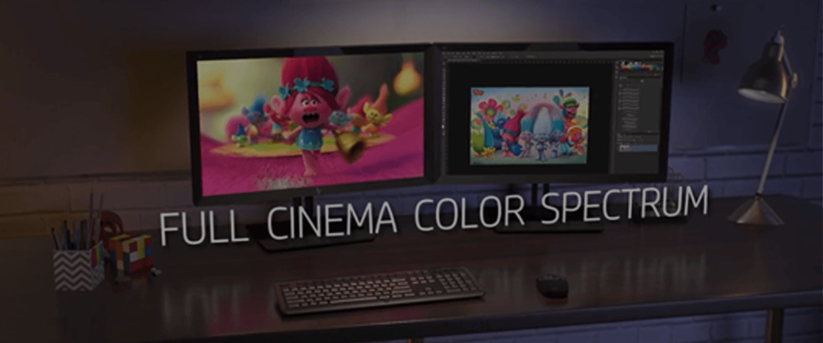 cinema colors on HP DreamColor displays
