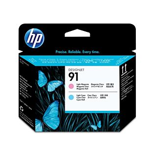 HP 91 Light Magenta and Light Cyan DesignJet Printhead