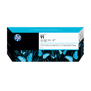 HP 91 775-ml Light Gray DesignJet Pigment Ink Cartridge