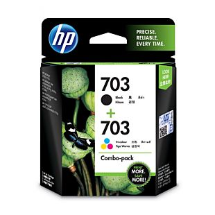 HP 703 2-pack Black/Tri-color Original Ink Advantage Cartridges