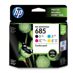 HP 685 4-pack Black/Cyan/Magenta/Yellow Original Ink Advantage Cartridges