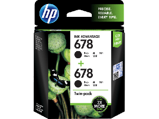 HP 678 2-pack Black Original Ink Advantage Cartridges