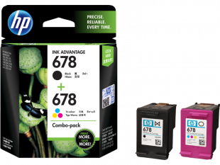 HP 678 2-pack Black/Tri-color Original Ink Advantage Cartridges