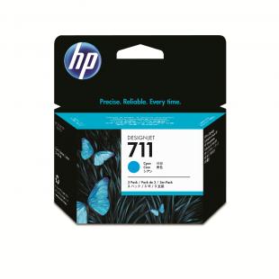 HP 711 3-pack 29-ml Cyan DesignJet Ink Cartridges