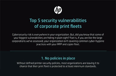 Top 5 security vulnerabilities of corporate print fleets