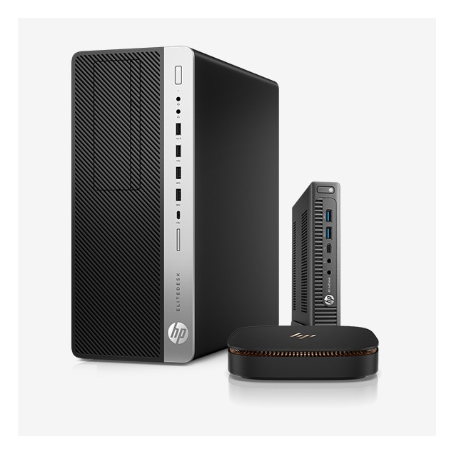 HP EliteDesk 800 Desktop Tower และ Mini พร้อมด้วย Elite Slice