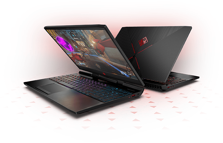 omen  laptop front and back images