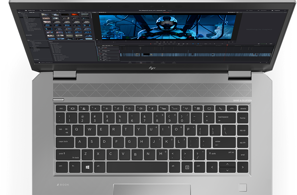 HP ZBook Studio 俯視角