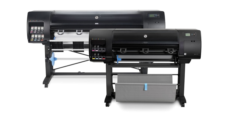 Two HP DesignJet Z6810 printers 42-inch and 60-inch models