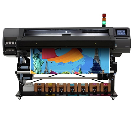 HP Latex 570 Printer - Easily integrated into your fleet and enjoy cost-effective production.