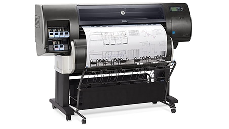 Side view of the HP DesignJet T7200 Production Printer