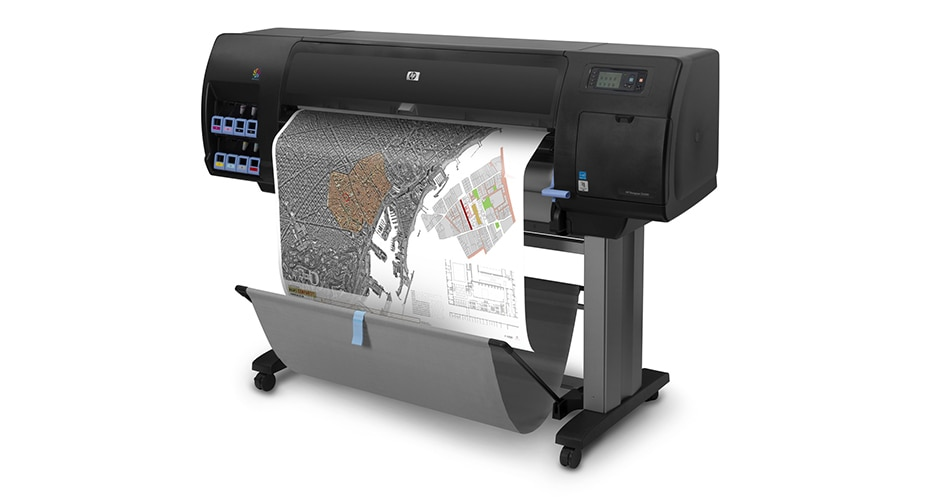 Side view of the HP DesignJet Z6200 Photo Production Printer