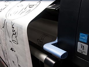 Close-up view of the HP DesignJet Z6200 Photo Production Printer