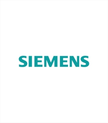 Company logo of Siemens, representing integration with their industry leading 3D software
