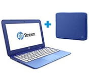 HP Stream 11 Laptop with Coloured Sleeve
