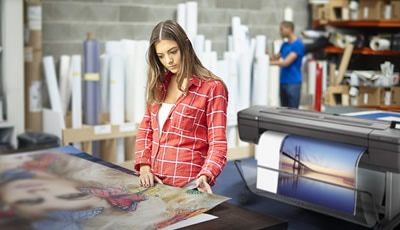 HP DesignJet T120 printer plotter with charts, CAD, GIS drawings