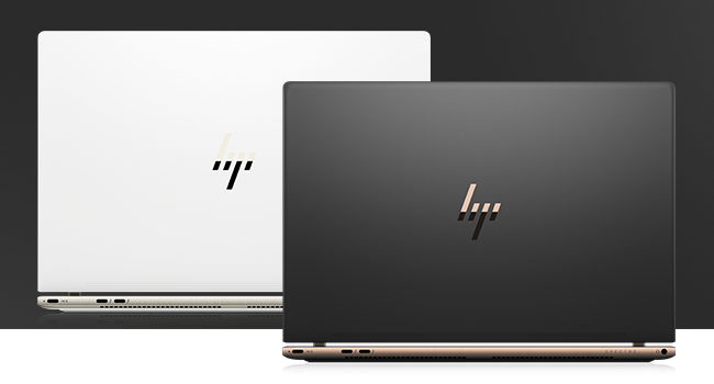 HP Spectre laptop back view