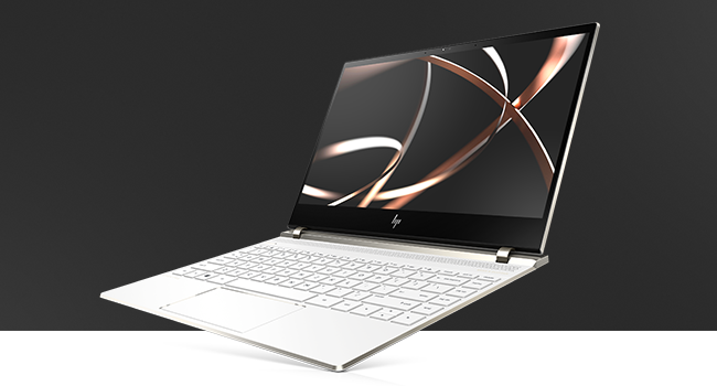 HP Spectre laptop open left