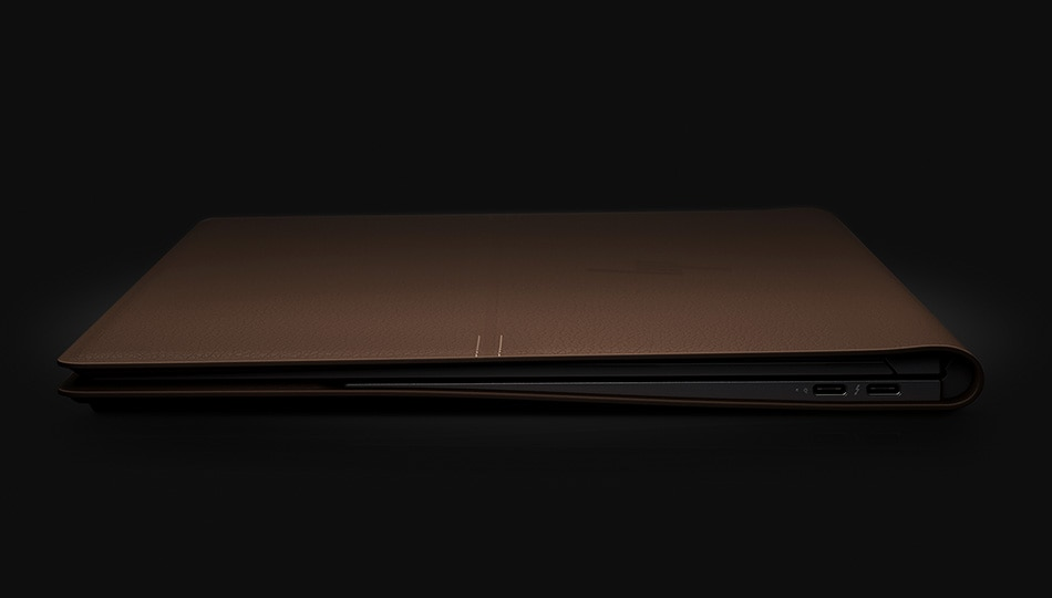Spectre folio leather back left side