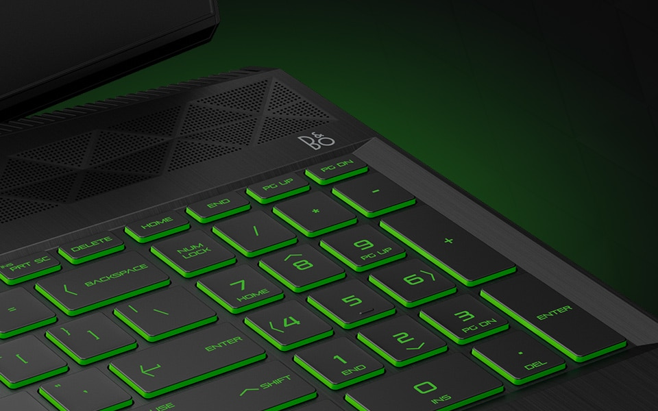 Pavilion Laptop green keyboard