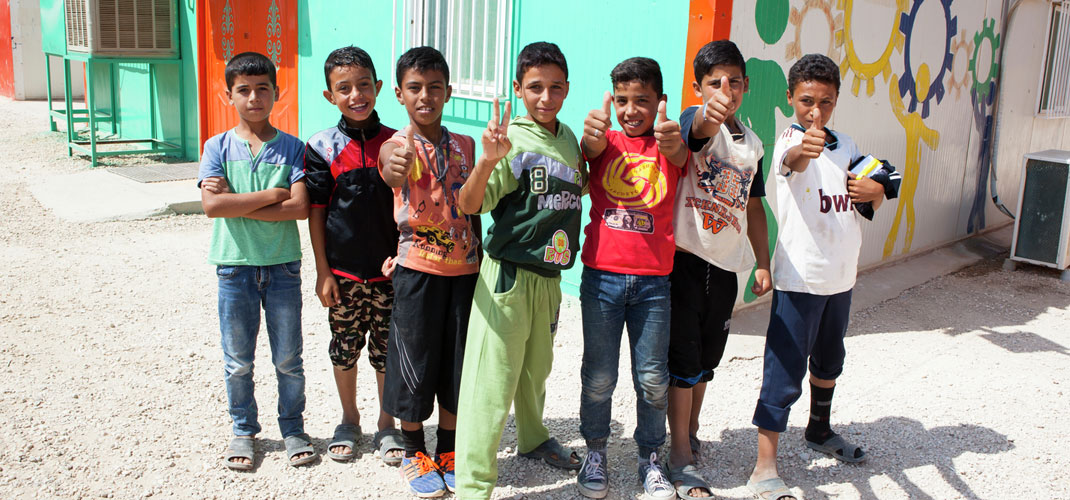Syrian refugee students benefitting from HP, Unicef & Clooney Foundation for Justice