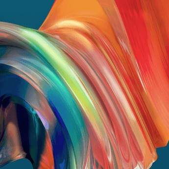 graphic design, orange, yellow, blue collor waves