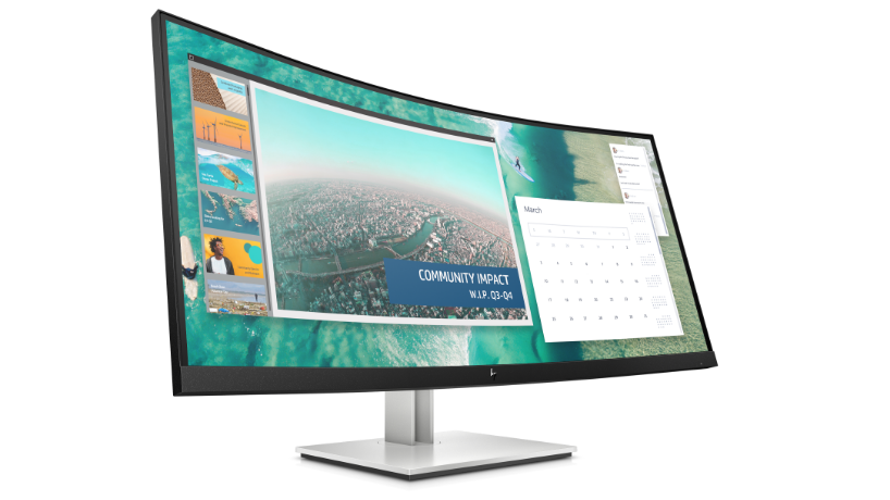 Elite courved large screen monitor with bright display