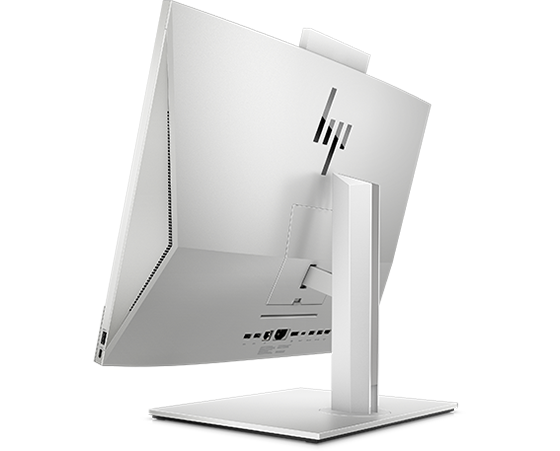 HP EliteOne 800 business All-in-One in back side view.