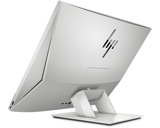HP EliteOne 800 business All-in-One in back tilted side view.
