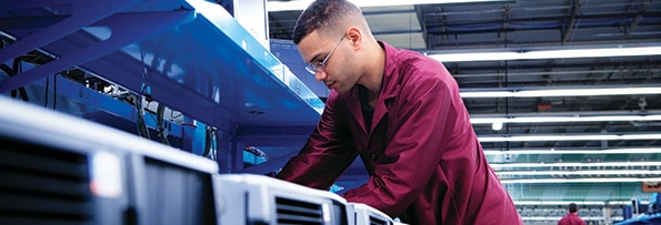 image of a guy on a production line