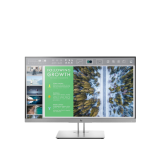 "front-facing 24"" E243 business monitor with micro-bezel"