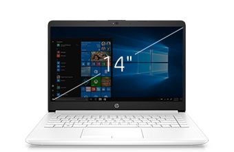 "HP laptop 14"" white"