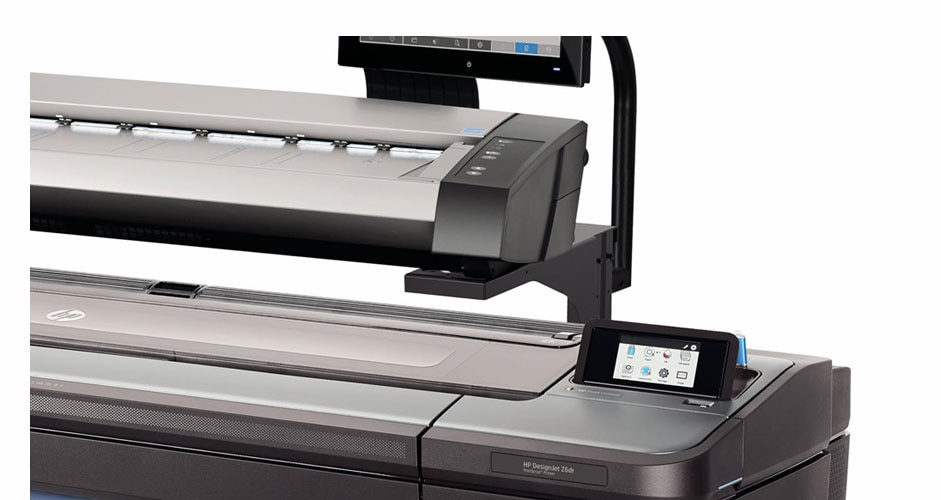 Side view of the HP DesignJet HD Pro Multifunction Printer