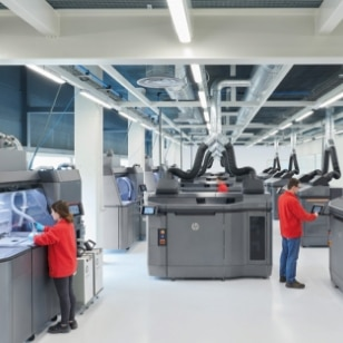 3d printers in a production plant