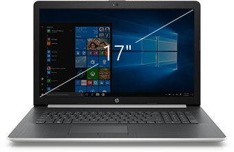 "HP laptop 17"" black"